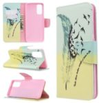 Pattern Printing Leather Wallet Stand Case for Samsung Galaxy S11e – Feather Pattern