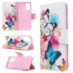 Pattern Printing Leather Wallet Case for Samsung Galaxy S11 – Colorful Butterflies