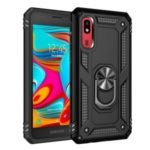 PC+TPU with Kickstand Armor Phone Casing for Samsung Galaxy A2 Core – Black