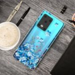 Pattern Printing IMD Clear TPU Phone Case for Samsung Galaxy S11 Plus – Blue Flowers