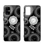 NXE TIME Series Clock Pattern Printing Rhinestone Decor Tempered Glass TPU Combo Case for Samsung Galaxy S11 Plus – Black