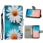 Pattern Printing Wallet Leather Protector Phone Shell Stand Case for Samsung Galaxy S20 Ultra/S11 Plus – Flower
