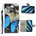 Pattern Printing Wallet Leather Protector Phone Shell Stand Case for Sony Xperia 5 – Butterfly