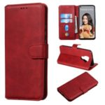 Classic Style Wallet Leather Stand Mobile Phone Casing for Huawei nova 5i / Mate 30 Lite – Red