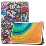 Pattern Printing Tri-fold Stand Leather Tablet Case for Huawei MatePad Pro – Cartoon