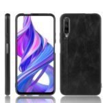 PU Leather Coated PC + TPU Casing for Huawei Y9s/Honor 9X Pro/Honor 9X (For China) – Black