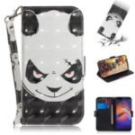 Pattern Printing Light Spot Decor Leather Wallet Case for Motorola Moto E6 Play – Panda Pattern