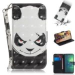 Pattern Printing Light Spot Decor Leather Wallet Stand Case for Motorola Moto G8 Plus – Panda Pattern