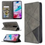 Geometric Pattern Stand Leather Card Holder Case for Xiaomi Redmi 8 – Grey