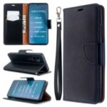 Litchi Skin Leather Wallet Case for Xiaomi Mi CC9 Pro / Mi Note 10 / Mi Note 10 Pro – Black