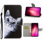 Pattern Printing Wallet Leather Stand Case for Xiaomi Redmi Note 8 Pro – Cat
