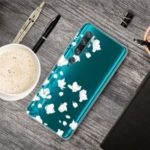 Pattern Printing IMD TPU Clear Phone Shell for Xiaomi Mi CC9 Pro/Mi Note 10/Mi Note 10 Pro – White Flower