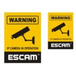 2Pcs Video Surveillance Security Monitoring Warning Stickers