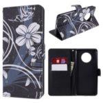 Pattern Printing Wallet Stand Leather Case for OnePlus 7T – Flower