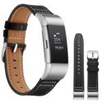 Genuine Leather Coated Watch Band for Fitbit Charge 2 – Black