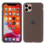 ROAR Solid Color Skin Feeling Soft Liquid Latex Phone Shell for iPhone 11 Pro Max 6.5 inch – Grey