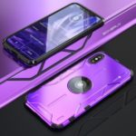 Drop-proof Kickstand Metal Phone Case Cover for Apple iPhone XS Max 6.5 inch – Purple