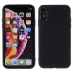 Quicksand Texture TPU Mobile Phone Protective Shell for iPhone XR 6.1 inch – Black