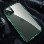 Electroplating Matte Acrylic+Metal Phone Case with Lens Cover for iPhone 11 6.1 inch – Green