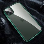 Electroplating Matte Acrylic+Metal Phone Cover Case with Lens Cover for iPhone 11 Pro Max – Green