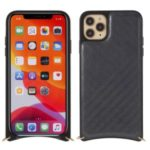 MUTURAL Drop-proof Cell Phone Cover with Metal Strap for iPhone 11 Pro Max 6.5 inch – Grey