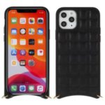 MUTURAL Square Surface PU Leather + PC + TPU Cover with Metal Strap for iPhone XS Max 6.5 inch – Black