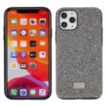 MUTURAL Fashionable Cloth+PC+TPU Phone Case Cover for iPhone 11 Pro Max 6.5 inch – Black/Silver