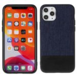 MUTURAL Cloth Texture Leather Coated PC+TPU Combo Cover for iPhone 11 Pro Max 6.5 inch – Blue/Black