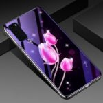 Eletroplating TPU Frame + Blue-ray Tempered Glass + PC Back Plate Combo Cell Phone Cover for Samsung Galaxy S20 Plus / S11 – Tulip
