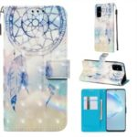 Pattern Printing Light Spot Decor Leather Wallet Case for Samsung Galaxy S20 Plus / S11 – Feather Dream Catcher
