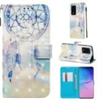 3D Painting Style Leather Phone Cover Wallet Stand Case for Samsung Galaxy S20 Ultra/S11 Plus – Dream Catcher