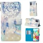3D Painting Style Leather Phone Wallet Stand Case for Samsung Galaxy A71 – Dream Catcher
