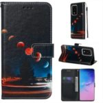 Pattern Printing Light Spot Decor Leather Wallet Case for Samsung Galaxy S11 Plus / S20 Ultra – Planets