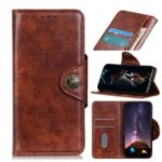 PU Leather Wallet Stand Case Phone Shell for Samsung Galaxy S20 Ultra/S11 Plus – Brown