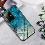 Gradient Color Tempered Glass + PC + TPU Hybrid Case for Samsung Galaxy S20 – Emerald