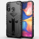 King Kong Series Shockproof Kickstand PC + TPU Hybrid Case for Samsung Galaxy A20e – Black