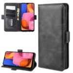 Magnet Adsorption Leather Wallet Case for Samsung Galaxy A21 – Black