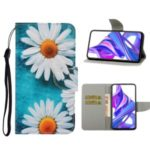 Pattern Printing Leather Wallet Case for Huawei Honor 9X (For China) / 9X Pro – White Flowers