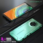 Magic Shield Series Drop-proof Metal + Silicone Phone Case for Huawei Mate 30 – Green