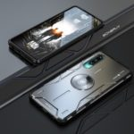 For Huawei P30 Magic Shield Aluminum Alloy + Silicone Hybrid Mobile Shell – Black