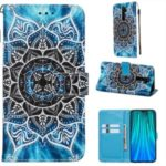 PU Leather Painting Phone Shell Cover for Xiaomi Redmi Note 8 Pro – Mandala Flower