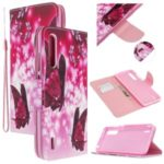 Pattern Printing Flip Leather Wallet Stand Phone Cover for Xiaomi Mi CC9/Mi CC9 Meitu Edition/Mi 9 Lite – Red Butterflies
