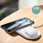 USAMS US-CD120 2 in 1 Magnetic Wireless Phone Charger Bluetooth Earphone Adapter Charging Station