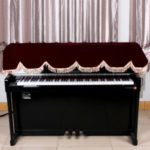 88-key Electronic Piano Keyboard Pleuche Cover Decorated with Fringes, Size: 200 x 80cm – Red