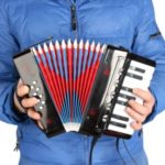 Children 17-Key 8 Bass Small Accordion Mini Educational Musical Instrument – Black