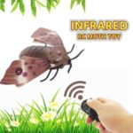 Remote Control Moth Toys Simulated Insect Toys Infrared Sensing Portable RC Toy for Kids Gift for Kids