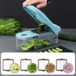 Multi-functional Manual Kitchen Slicer Vegetable Cutter with 8 Different Blades