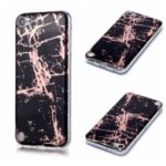Marble Pattern Electroplating IMD TPU Back Case for iPod Touch 5 – Black