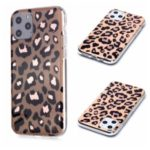 Marble Pattern Rose Gold Electroplating IMD TPU Case for iPhone 11 Pro 5.8 inch – Leopard Texture