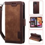 Vintage Splicing Style Wallet Stand Leather Protective Phone Case for iPhone 11 Pro Max 6.5 inch – Brown